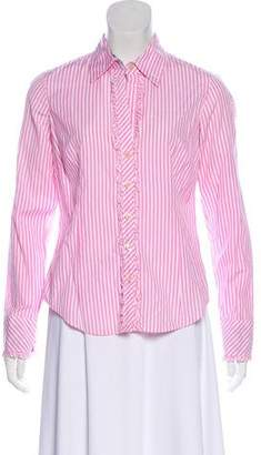 Lilly Pulitzer Pinstripe Button-Up Top