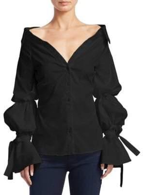 Caroline Constas Margaret Off-the-Shoulder Blouse