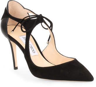 Jimmy Choo Vanessa 85 black suede pumps