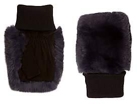Glamour Puss Glamourpuss Women's Rabbit Fur Fingerless Gloves