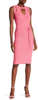Rachel Roy Lace-Up Shoulder Sleeveless Dress