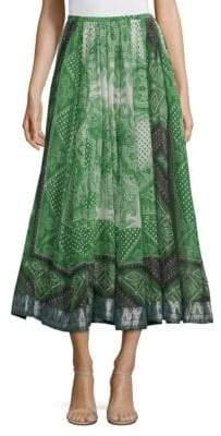 Etro Bandana Drawstring Gypsy Skirt