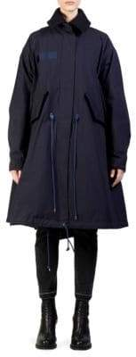 Sacai Two-Tier Wool& Nylon Oxford Coat