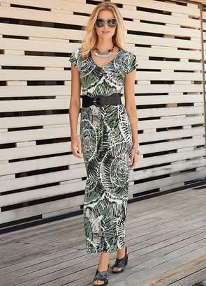 Kaleidoscope Belted Maxi Dress