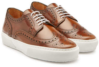 Robert Clergerie Leather Sneakers with Brogue Detailing