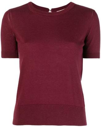 Twin-Set short-sleeve fitted sweater