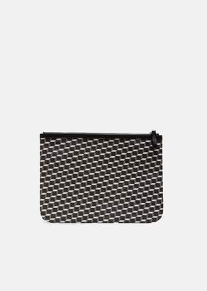 Pierre Hardy X-Large Maroquinerie Canvas Cube Pouch Black White Black