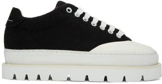 MM6 MAISON MARGIELA Black Wool Platform Sneakers