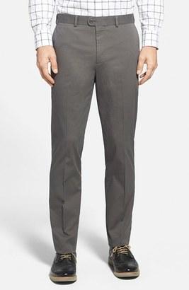 Men's Bensol Washed Trim Fit Stretch Cotton Trousers $98.50 thestylecure.com