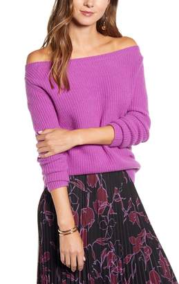 Halogen Off the Shoulder Cashmere Sweater