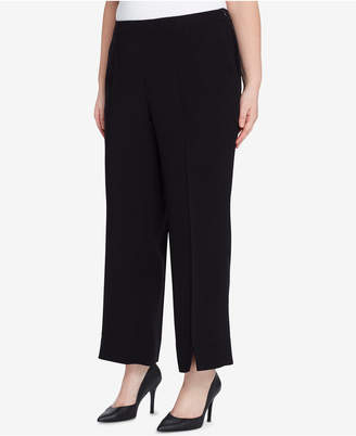 Tahari ASL Plus Size Slit-Front Ankle Pants