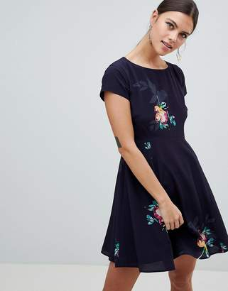 French Connection Delphine Floral Print One Shoulder Dress