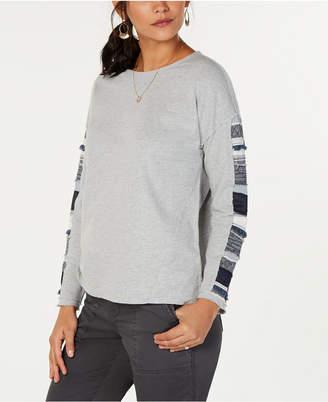 Style&Co. Style & Co Cotton Mixed Media Sweatshirt