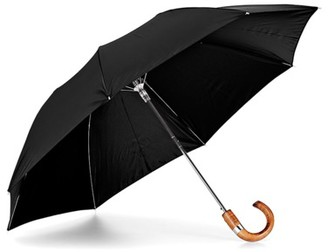 Aspinal of London Compact Automatic Umbrella with Maple Wood Handle