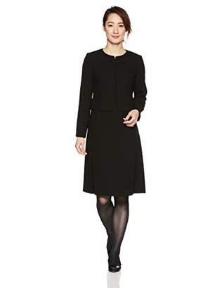 ブラックフォーマル B-GALLERY アンサンブル ジャケット ワンピース 喪服 礼服 葬儀 黒 レディース ブラック 7号