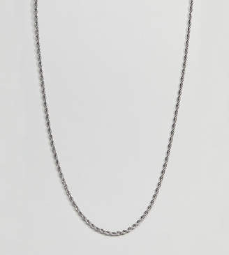Mister silver rope chain necklace in sterling silver