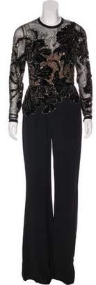 Elie Saab Bead-Embellished Jumpsuit