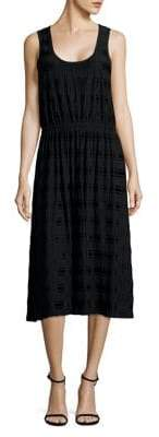 MICHAEL Michael Kors Striped Sleeveless Midi Dress