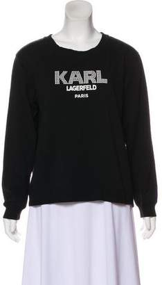 Karl Lagerfeld Logo Scoop neck Sweatshirt