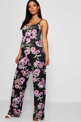 boohoo Maternity Tilly Floral Spot Jumpsuit