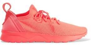 adidas Neon Neoprene-Trimmed Stretch-Knit Sneakers