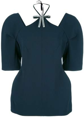 Marni structured cut out blouse