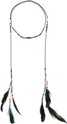 Nakamol Mixed Feather Wrap Necklace