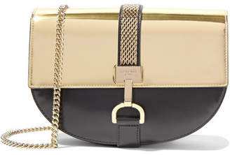 Lanvin - Lien Metallic-paneled Leather Shoulder Bag - Gold $1,795 thestylecure.com