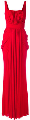 Alexander McQueen draped gown $3,045 thestylecure.com