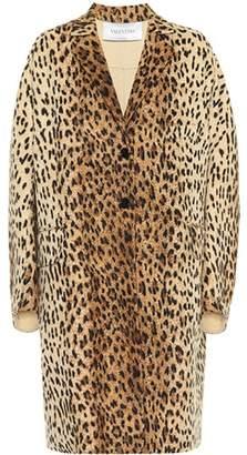 Valentino Leopard-print wool coat