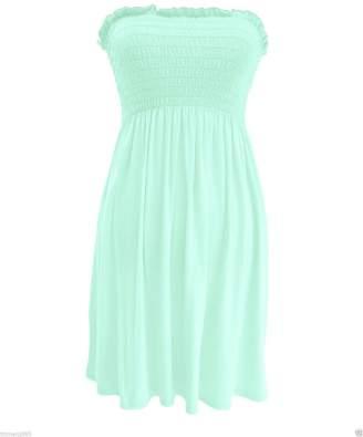 db0480fa9d MIXLOT Women's sheering boobtube bandeau strapless/sleeveless plain top  ladies sexy summer beach dress top