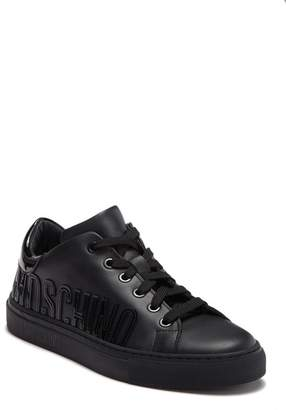 Moschino Logo Leather Sneaker