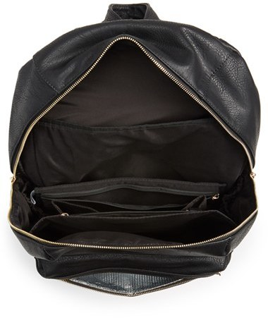 Infant Girl's The Honest Company 'City' Faux Leather Diaper Backpack - Black 3