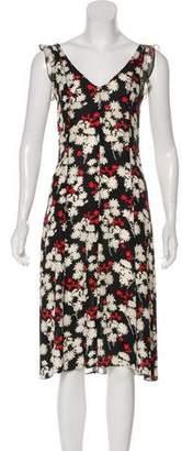 Diane von Furstenberg Floral Silk Dress