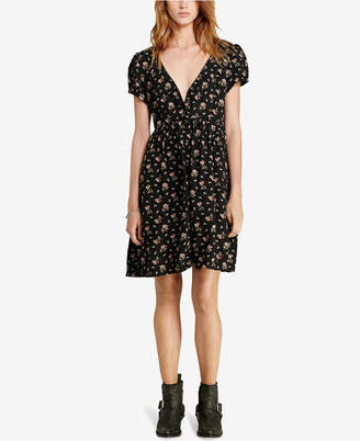 Denim & Supply Ralph Lauren Floral-Print Button-Front Dress $98 thestylecure.com