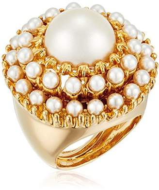 Kenneth Jay Lane Gold and Cabochons with Center Round Ring