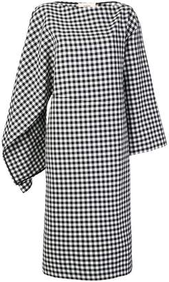 Ports 1961 asymmetric gingham dress