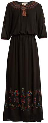 The Great The Promenade embroidered cotton maxi dress