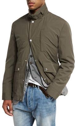 Brunello Cucinelli Cotton-Nylon Utility Jacket $2,295 thestylecure.com
