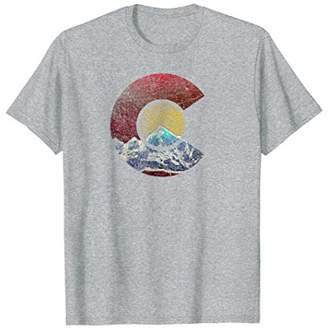 Colorado Shirt with Flag Inspired Mountain