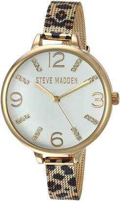 Steve Madden Women's Quartz Gold-Tone and Alloy Casual WatchMulti Color (Model: SMW042G)