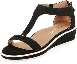 Bettye Muller Concept Tristan Suede T-Strap Wedge Sandals