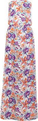 Vix Tide Odette printed silk crepe de chine maxi dress $296 thestylecure.com