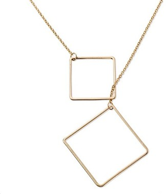 "Target Distributed Women's Square Toggle Long Necklace - Gold (30"") $16.99 thestylecure.com"