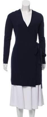Diane von Furstenberg Rib Knit Wrap Cardigan