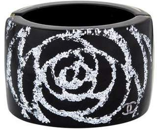 2c90d6399a0 Pre-Owned at TheRealReal · Chanel Glitter Camellia Resin Cuff
