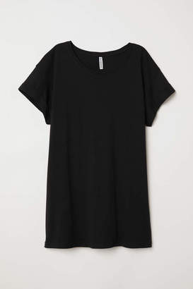 H&M Long T-shirt - Black - Women