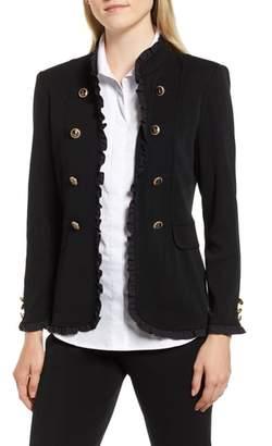Ming Wang Frill Detail Jacket