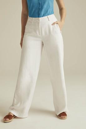 6e10f3c3e3caa Tall White Linen Pants Women - ShopStyle Australia