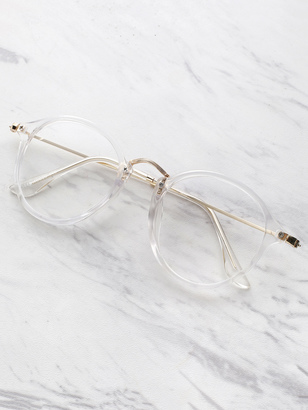 Shein Transparent Frame Metal Top Bar Glasses